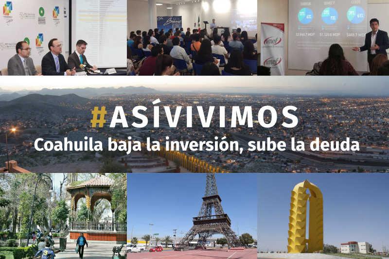Coahuila baja la inversión, sube la deuda